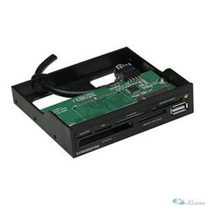 MANHATTAN Multi-Card Reader/Writer Hi-Speed USB, 3.5inch Bay Mount, 60-in-1