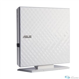 ASUS 8X DVD-RW SLIM EXTERNAL WHITE DIAMOND, RETAIL,for PC, Mac,and Laptop