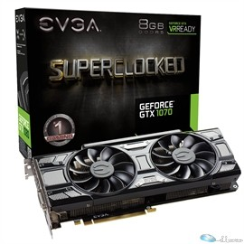 eVGA Video Card 08G-P4-5173-KR GTX 1070 8GB DDR5 PCI Express 3.0 DVID/HDMI/3xDisplayport Retail