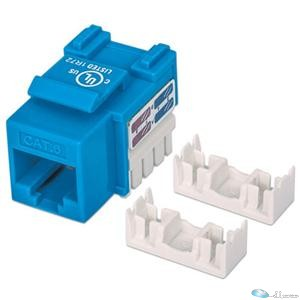 CAT6 KEYSTONE JACK UTP, Blue, Punch-down