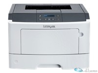 Lexmark MS417dn - Printer - monochrome - Duplex - laser - A4/Legal - 1200 x 1200 dpi - up to 40 ppm - capacity: 300 sheets - parallel, USB 2.0, Gigabit LAN