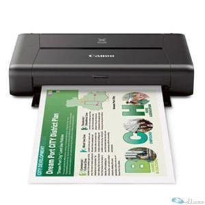 Canon PIXMA iP110 Inkjet Printer - Color - 9600 x 2400 dpi Print - Photo Print - Portable 9 ipm Mono Print / 5.9 ipm Color Print (ISO) - 53 Second Photo - 50 sheets Input - LCD - Wireless LAN - USB - PictBridge - Battery