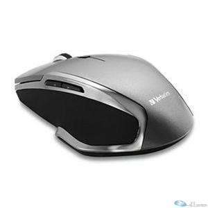 Wireless Notebook 6-Button Deluxe Blue LED Mouse - Graphite