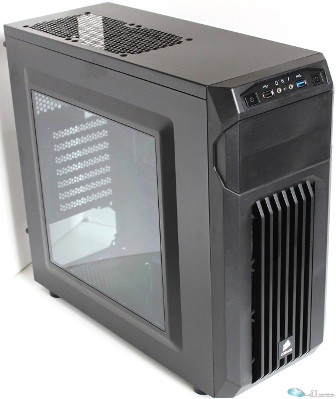 Carbide Series SPEC-01 Mid Tower Gaming Case w/ Side Window, Red LED Fan, 1xFron