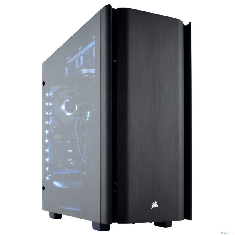 Obsidian 500D Mid Tower Case, Premium Rempered Glass and Aluminum