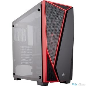 CORSAIR Carbide SPEC-04 Mid-Tower Termpered Glass Gaming Case, Black & Red