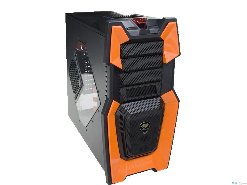 Challenger  Boitier ATX  Orange  design unique  7 ventilateurs  7 Disque dur  USB3.0