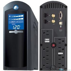 CyberPower CP1500AVRLCD - UPS - 900 Watt - 1500 VA 9 Ah - output connectors: 12 - black