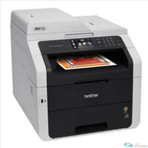 Brother MFC-9340CDW LED Multifunction Printer - Color - Plain Paper Print - Desktop - Copier Fax Printer Scanner - 22 ppm Mono/22 ppm Color Print - 2400 x 600 dpi Print - 22 cpm Mono 22 cpm Color Copy - Touchscreen LCD - 1200 dpi Optical Scan - Automatic Duplex Print - 250 sheets Input - Ethernet -