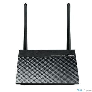 Asus RT-N300 Ethernet Wireless Router 2.40 GHz ISM Band - 2 x Antenna(2 x External) - 300 Mbit/s Wireless Speed - 4 x Network Port - 1 x Broadband Port - Fast Ethernet - VPN Supported - Desktop